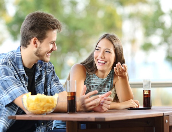 Want to break the ice on a date? Make him or her laugh!