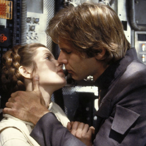 Han solo princess leia kiss