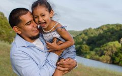 A man with his daughter who can tell you a few things about how to date a single parent.