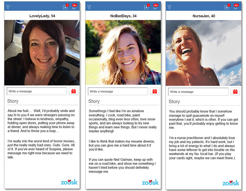 Samples of online dating profiles in Sydney