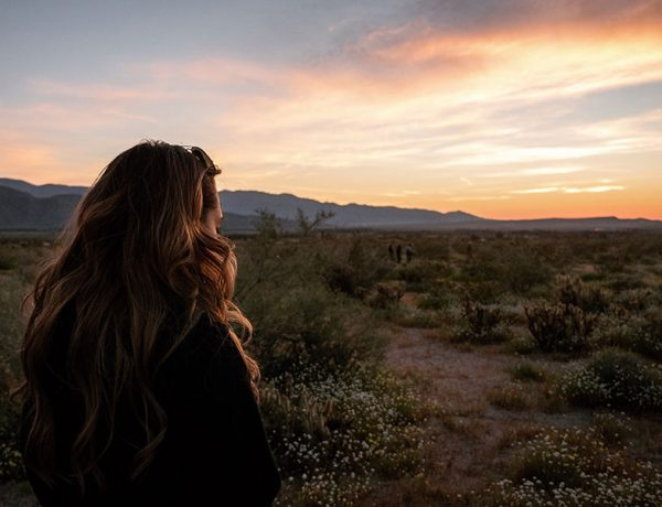 A woman looking into the sunset reflecting on how to start dating after a breakup.