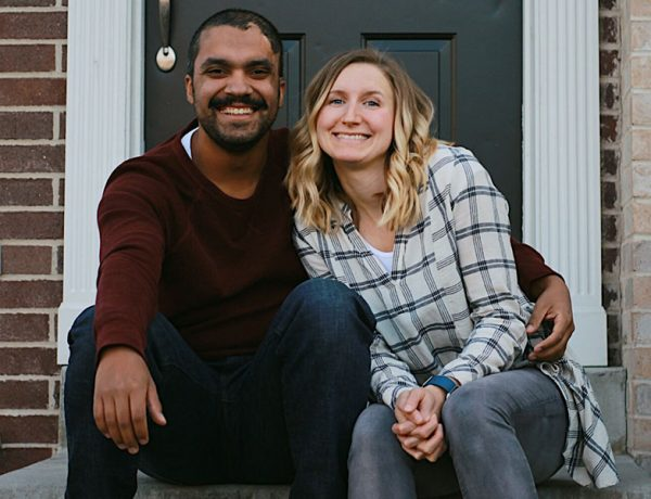 This happy couple sitting on their front porch listened to this new relationship advice that most people don't hear.