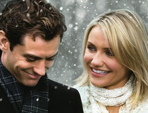 These dating tips came from rom-coms like The Holiday. Cameron Diaz and Jude Law smiling in the snow together.