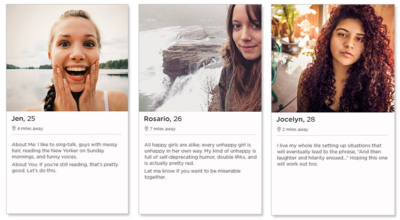dating app bio template
