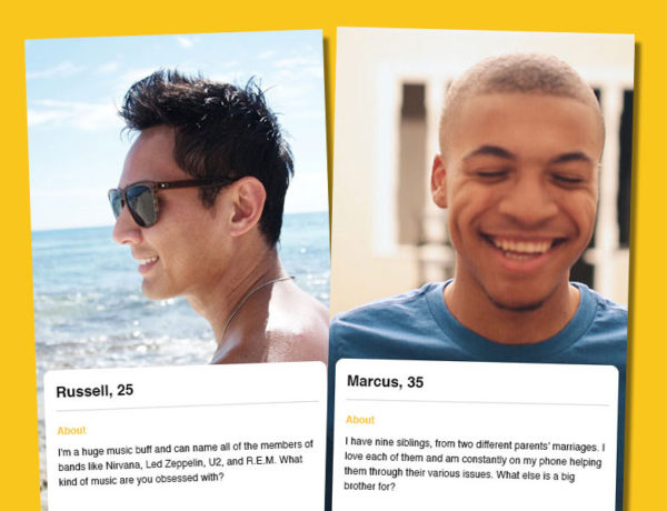 Two bumble profile examples for men looking to date on the app bumble.