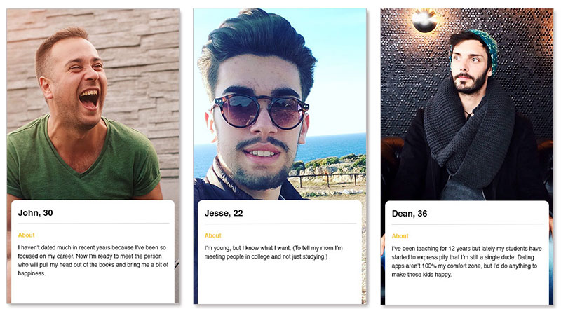 Sample dating profiles for females