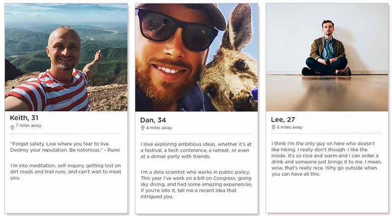 Dating profile examples for guys