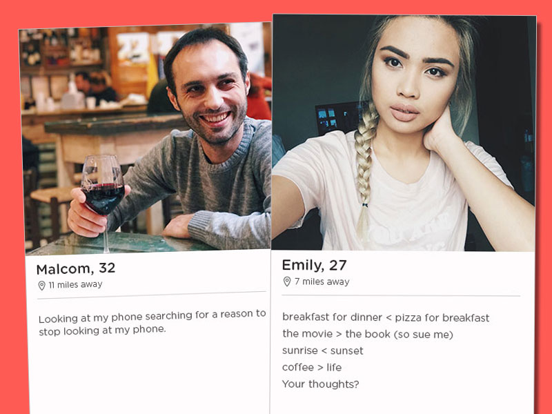 Two of the best tinder bios for