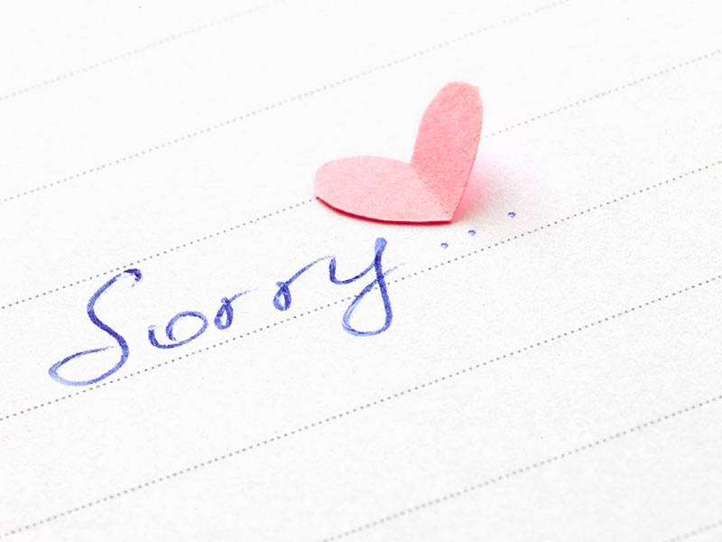 Love means saying more just im sorry
