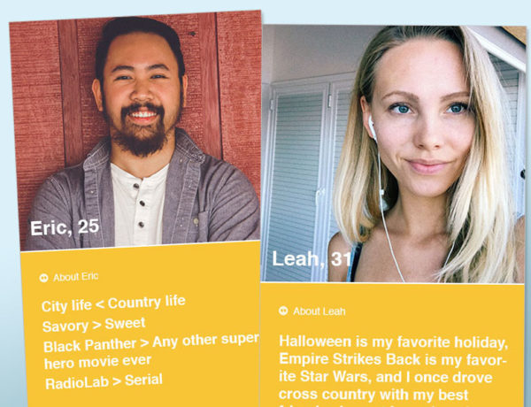 Two bumble bios that are really good.