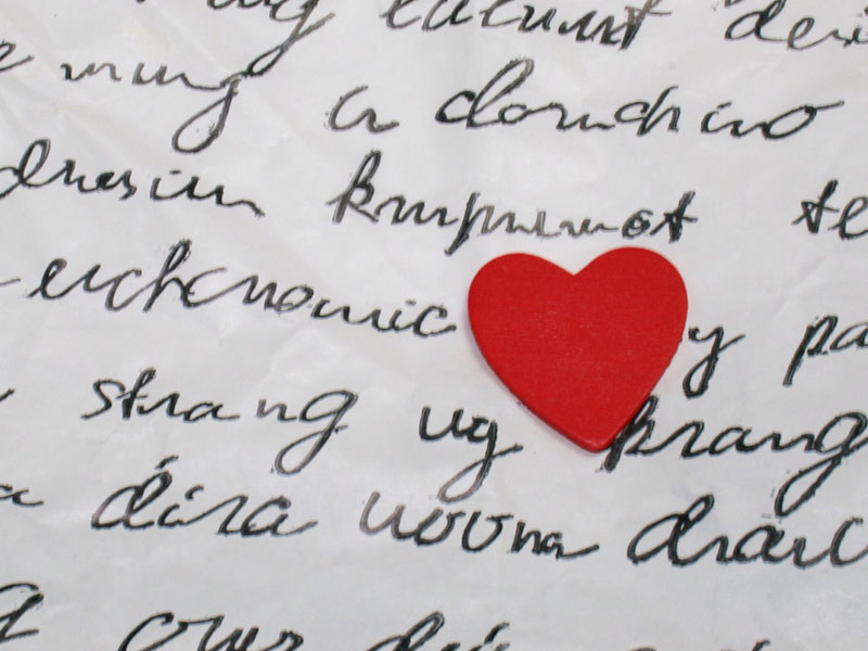A picture of a love letter for those who want to know how to write a love letter.