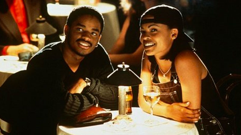 Darius and Nina in Love Jones before he gave his declaration of love.
