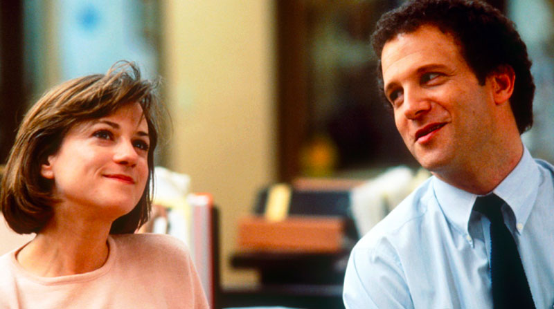 A movie still from Broadcast news where these declarations of love come from.