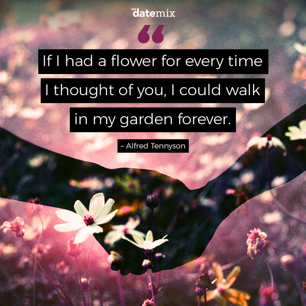 Romantic Quotes: If I had a flower for every time I thought of you I could walk in my garden forever.