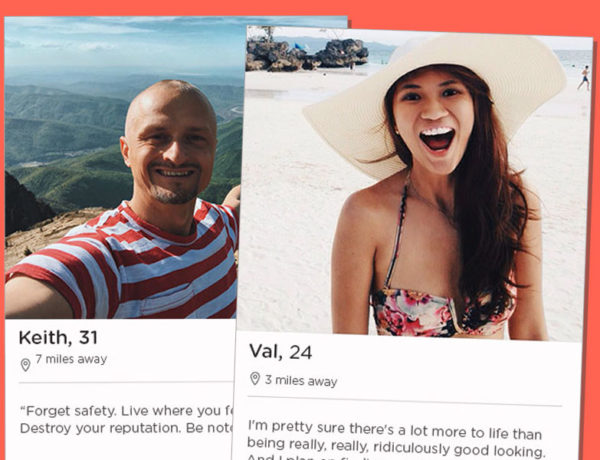 Two Tinder bios screenshots.