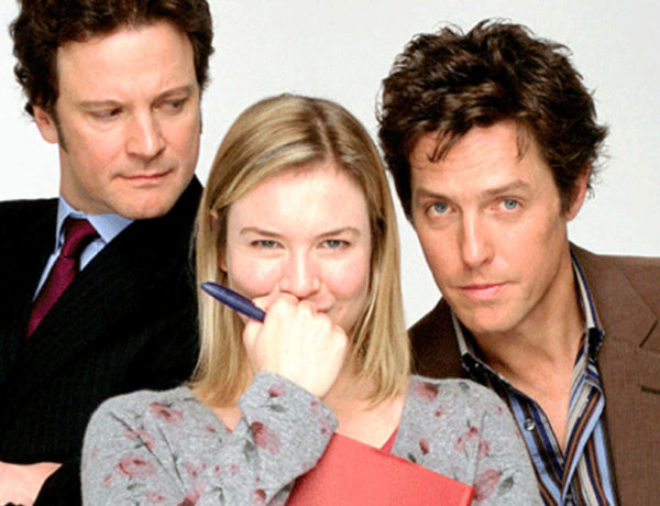 The love triangle from Bridget Jones' Diary.