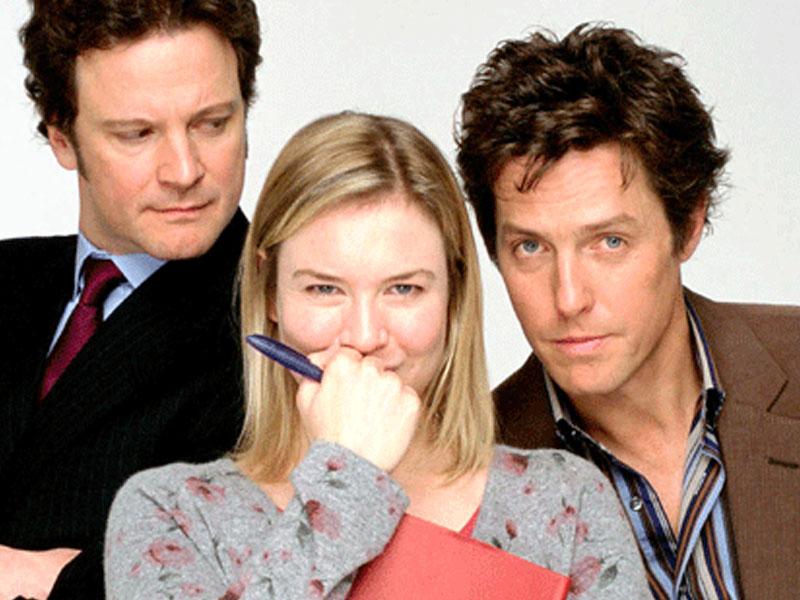 The love triangle from Bridget Jones' Diary.